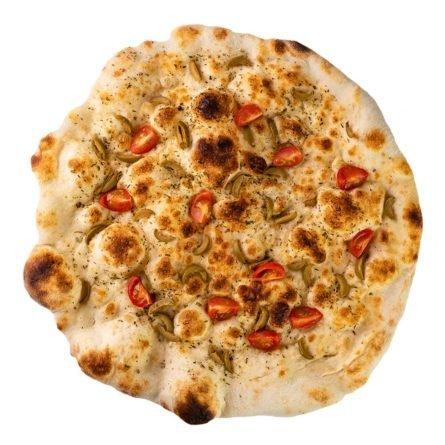 Фокачча с оливками помидорами в Monkey Pizza