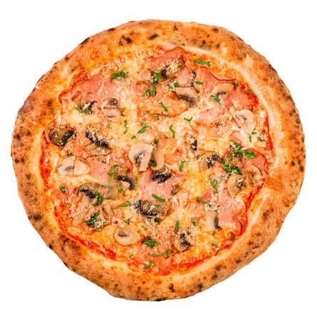 Піца з шинкою і печерицями